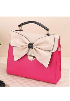 Rose Red Bowknot Handbag