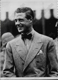 1936 GARDEN PARTY Montreal PRINCE EDWARD VIII Later Became King Photo