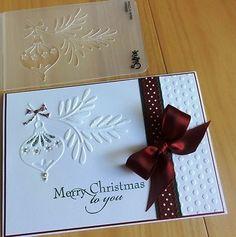 Sizzix Christmas Embossing Folders | SIZZIX EMBOSSING FOLDER Christmas Ornament with Branch - NEW