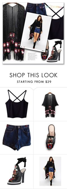 """""""StayingSummer1"""" by aaidaa ❤ liked on Polyvore featuring American Apparel"""