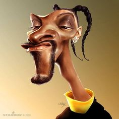 Snoop Dogg caricatures