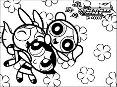 the powerpuff girls wallpaper coloring page wecoloringpage