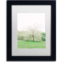 Trademark Fine Art 'White Cherry Blossom Tree' Canvas Art by Ariane Moshayedi, White Matte, Black Frame, Size: 11 x 14, Multicolor