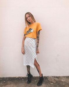 10 looks com saia longa para você se inspirar - moda - Style Outfits, Summer Outfits, Casual Outfits, Cute Outfits, Fashion Outfits, Fashion Trends, Look Fashion, Girl Fashion, Womens Fashion
