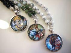 Ganesha, Radha&Krishna and Hanuman Mala Beads.