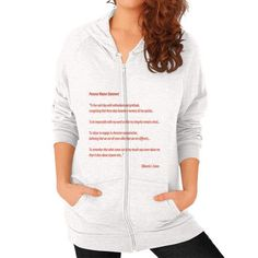 Personal Mission Statement Zip Hoodie (on woman)