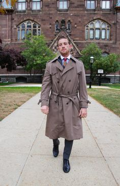 The Al Capone Trench  Men's Vintage  Christian by WhiskeyandFur, $99.00