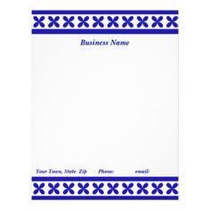 Blue Daisy Mae Customized Letterhead