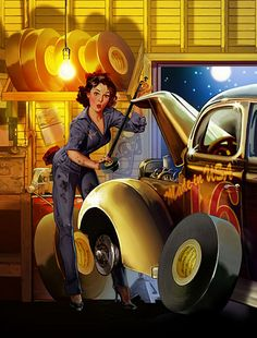 Robert Rodriguez Pin-Up Art | Flickr - Photo Sharing!