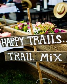 Healthy alternative to a candy table- a trail mix table!