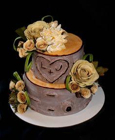 Birch tree cake #bridalshower #wedding
