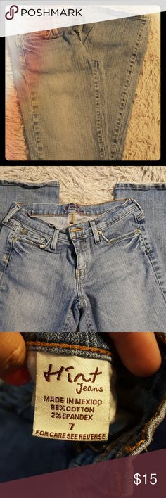 Hint jeans Nice faded jean, no holes, slightly frayed ends nothing wrong with them. Hint Jeans  Jeans Boot Cut