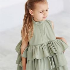 Nala Tiered Bubble Dress Fits true to size Polyester, Cotton Two amazing colors Button front design Sleeveless Tiered ruffle design. Teenage Girl Outfits, Little Girl Outfits, Little Girl Fashion, Little Girl Dresses, Kids Fashion, Girls Dresses, Fashion 2016, Fall Dresses, Latest Fashion