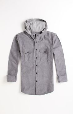 #Matix Tarpaulin Hooded Woven Shirt