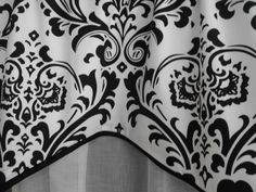 window treatment valance black and white valance by