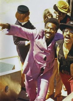 Wilson Pickett & Sammy Davis Jr. at the Soul to Soul Concert, March 6, 1971 in Ghana.