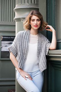 """I need a project like this one: something that requires a needle size larger than a US 3! From Vogue Knitting Fall 2015, pattern 08, Yoko Hatta's """"Open Cardigan"""" in Aran weight."""
