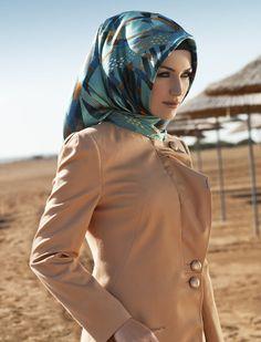 Turkish hijab style is always so elegant!