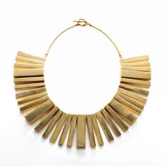 I can make this... I just know it!  Moderrnist Bib Collar Necklace, $225, now featured on Fab.