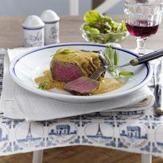 Steak mit Sauce Cafe de Paris