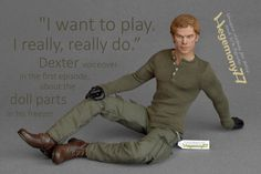 1/6 scale Dexter outfit set by Hegemony77com on Etsy