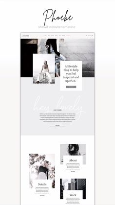 Showit Website Template Phoebe - Web Design // Layout Inspo - One-of-a-kind Showit Website Template for creative small business owners. Design Websites, Web Design Trends, Coperate Design, Web And App Design, Layout Design, Design Portfolio Layout, Site Web Design, Design De Configuration, Clean Web Design