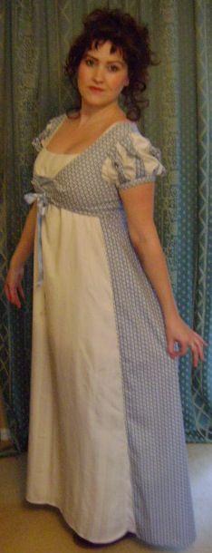 Regency dress custom made www.marionmay.co.uk