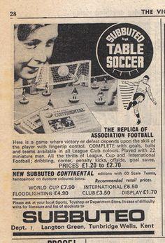 #Subbuteo: il calcio da tavolo