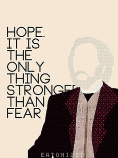 The problem with President Snow's logic is he used fear to drive them away, to make them hopeless. How can hope be stronger than fear when there wasn't any hope? They were afraid of him. Even the glimmer of hope that Katniss brought them couldn't change that. His logic is flawed.