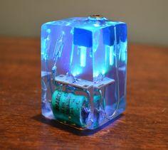 LED Resin Cube by lonesoulsurfer