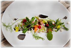 Салат от шеф-повара в French Laundry, Yountville, California.