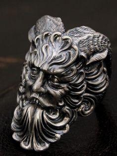 LegioMade【牧神】(スカルリング/シルバーアクセサリー/シルバーアクセ/シルバー/シルバー925/Silver925/銀/レギオメイド/リング/指輪/メンズ/パーン)