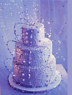 Sparkly and purple! Just the way I like it! By Colette's Cakes in NYC
