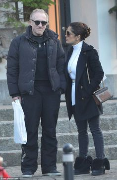 49 Winter warmers: Salma Hayek proved she can look just as good in casual day wear as she can...