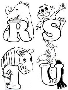 Alfabeto de animales para colorear.   Oh my Alfabetos!
