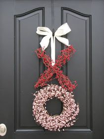 Valentine's wreaths with links to instructions