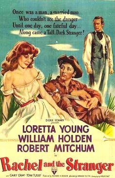 Loretta Young, William Holden, Robert Mitchum. classic movie poster