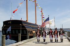 """Captain Richard Bailey stands by to """"set the first watch"""" aboard the SSV Oliver Hazard Perry during the Oliver Hazard Perry Rhode Island Dedication Ceremony in 2013. (Photo Credit OHPRI/Kim Fuller)"""