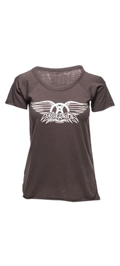 Chaser Aerosmith Cold Shoulder Short Sleeve Tee in Vintage Black / Manage Products / Catalog / Magento Admin
