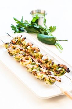 Grilling for a crowd works best when you can prep some of the ingredients ahead of time. Tasty Chimichurri Shrimp Kebabs are not only prep ahead, but also quick cooking.   Dash of Delicious