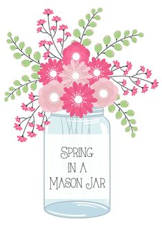 Spring in a Mason Jar from Debbiedoo's #bHomeApp