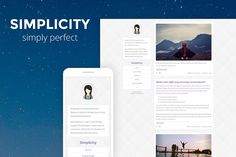 Simplicity - Clean Tumblr Theme by CubThemes on @creativemarket