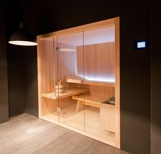 Glass proposes this relaxing sauna: Rope #saunas #idfdesign #bathroom
