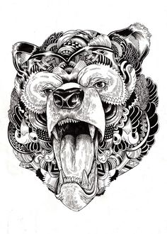 Intricately patterned animal illustrations by Iain Macarthur.