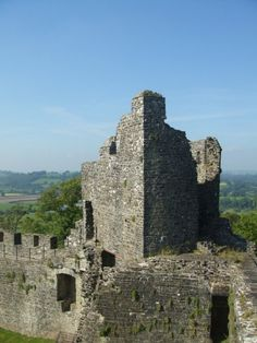 The abandoned ruins of Dinefwr (Dynevor) Castle over Carmarthenshire - the abandoned ruins of the original castle gifted to my paternal ancestor, Sir Rhys ap Thomas, by King Henry VII in the late 1400's.