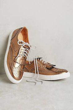 Chaka Metallic Wing-Tip Sneakers
