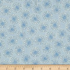 Cotton Candy Flannel Mums Blue from fabric.com
