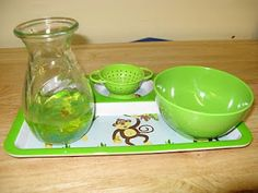use strainer to remove stones from water