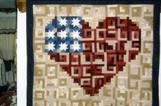 Log Cabin Heart - Quilt With Us