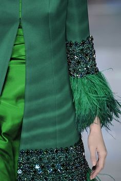 valentino Feathers, sequins, and it's green! You're speaking my language!